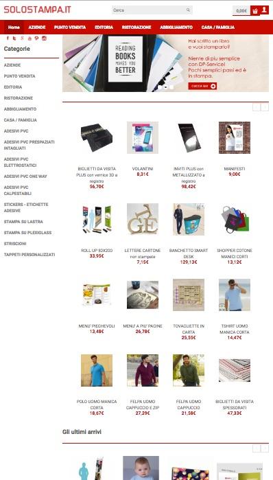 Digital Print Service rinnova lo store on-line di SoloStampa.it