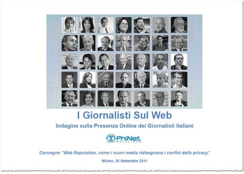 Online la ricerca PhiNet (www.phinet.it) sulla reputazione web dei principali giornalisti italiani