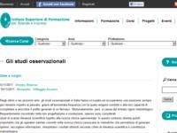 """Corso ECM per infermieri e medici: """"Gli studi osservazionali"""""""