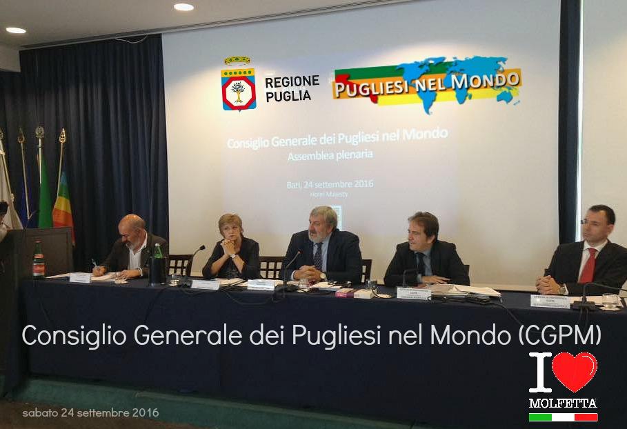 CGPM assemblea plenaria del Consiglio Generale dei Pugliesi nel Mondo