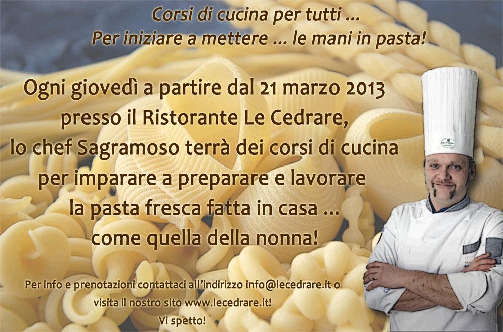 Lo chef sagramoso marcantonio apre le porte ai corsi di cucina per la pasta fresca - Corsi di cucina verona ...