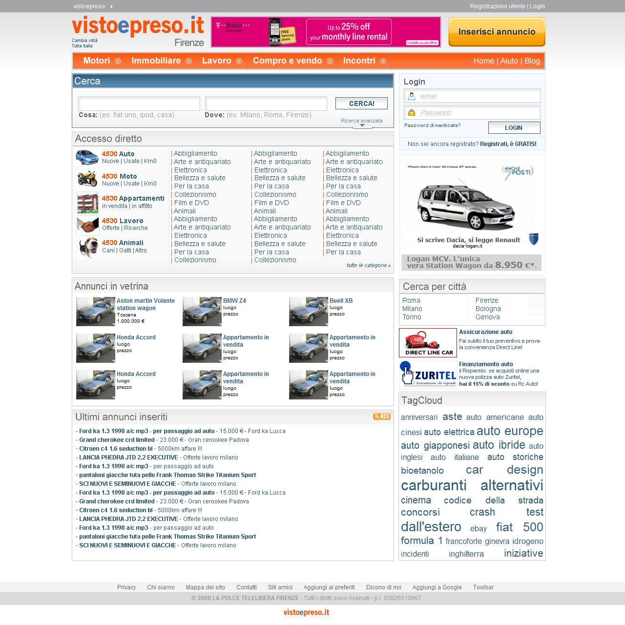 VISTOEPRESO.IT, l'innovativo portale di annunci, dà vita ad un'originale azione di marketing