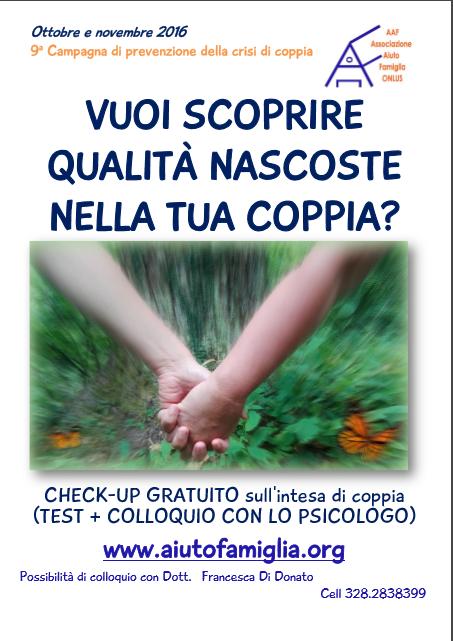 IX campagna di prevenzione della crisi di coppia - AAF Associazione aiuto famiglia onlus