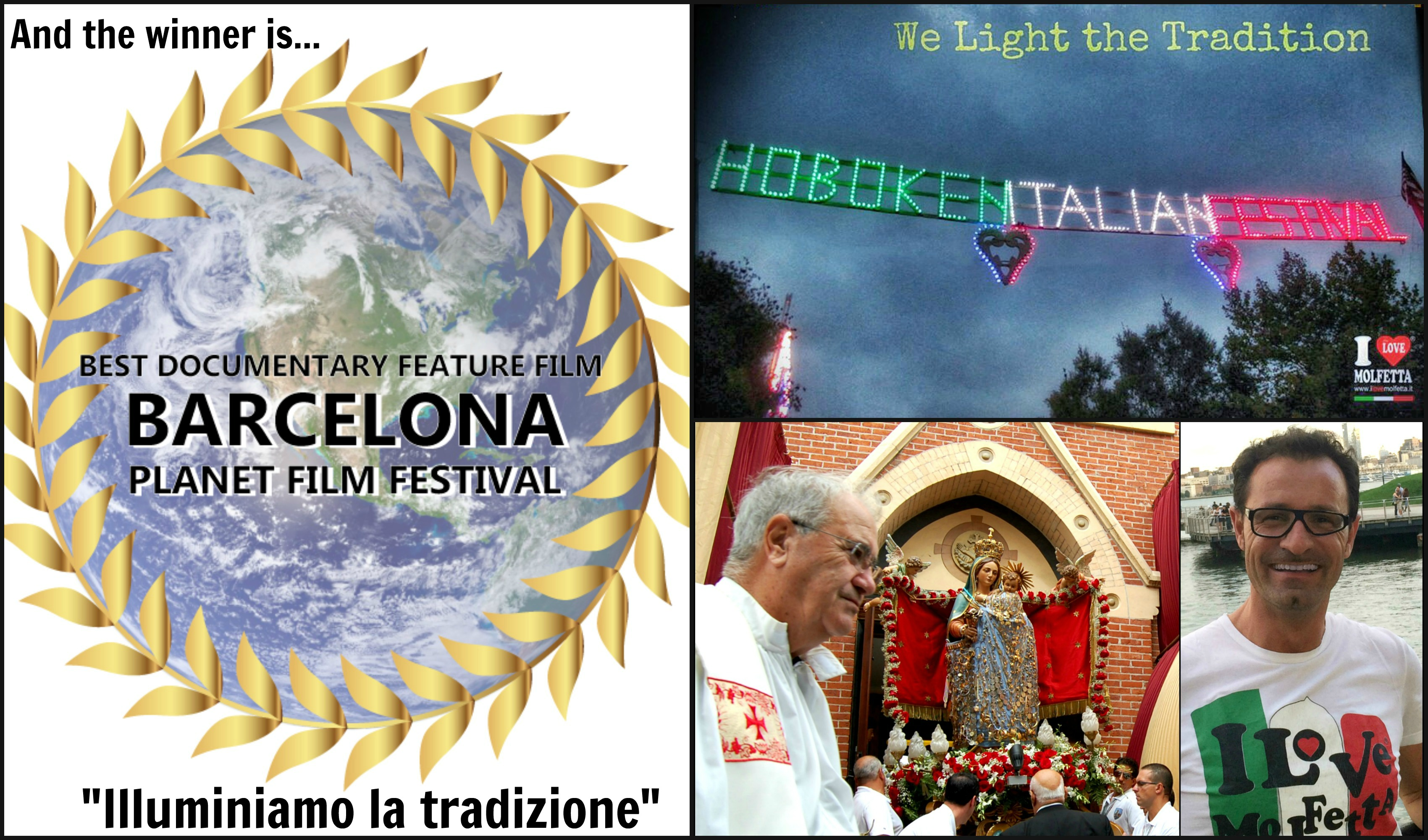 La Puglia, con Molfetta, vince, al primo posto al Barcellona Planet Film Festival