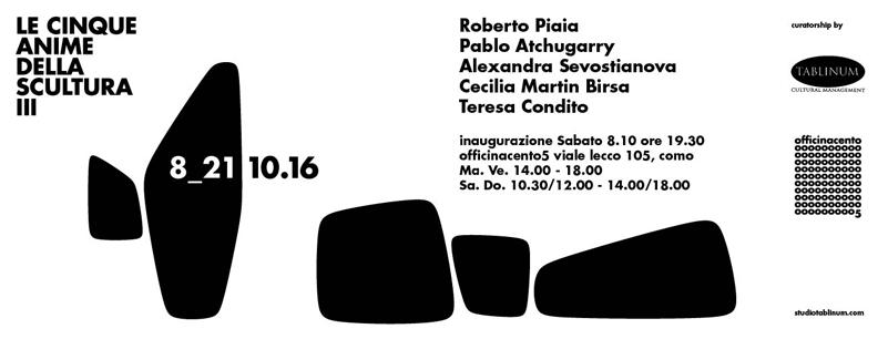 Le Cinque Anime della Scultura | Roberto Piaia in mostra a Como
