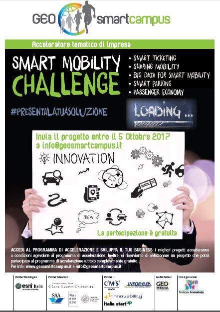 """""""Smart Mobility Challenge"""": il GEOsmartcampus lancia l'iniziativa per scoprire progetti innovativi in ambito Smart Mobility."""
