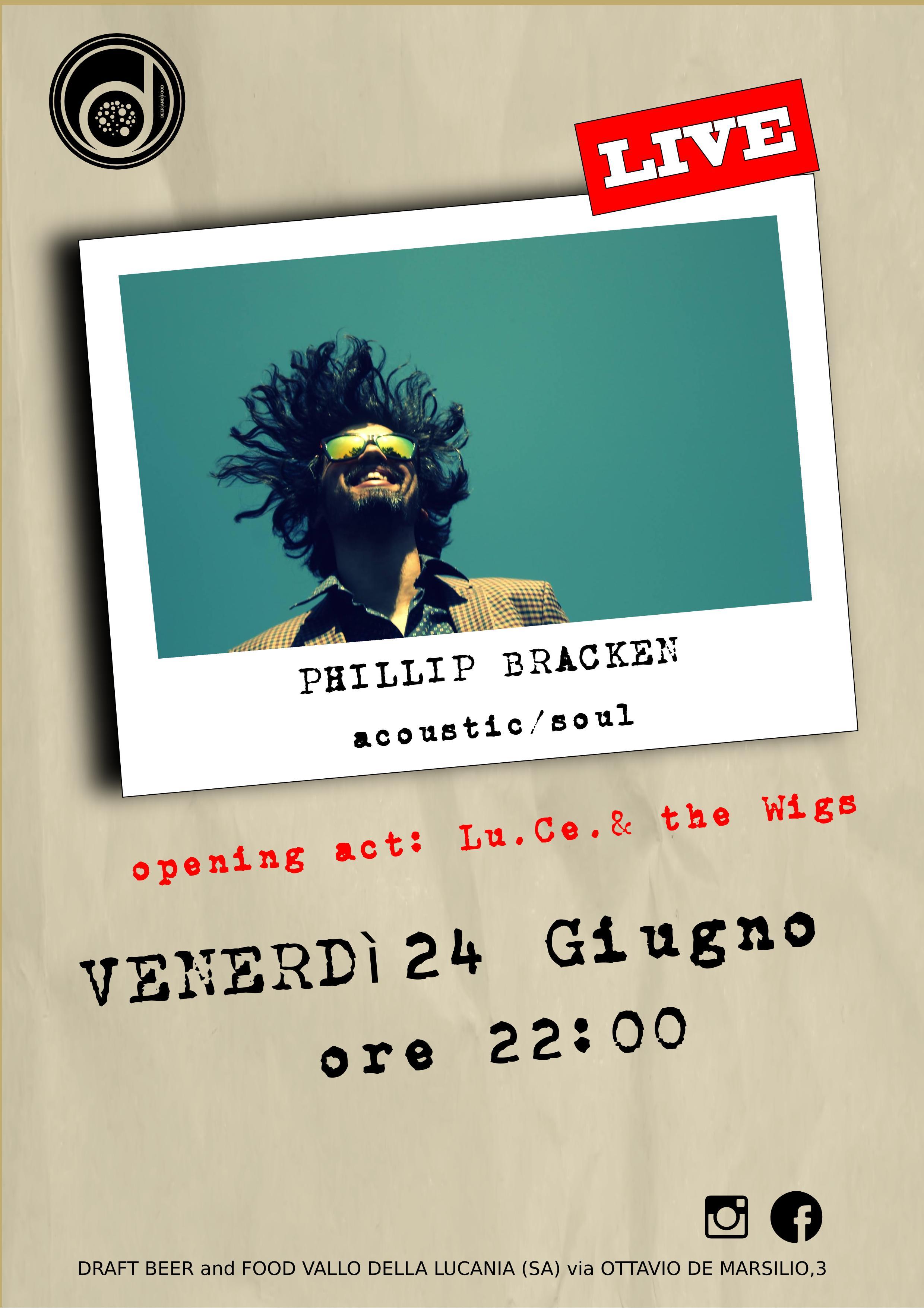 Dall'Australia all'Italia passando per la Polonia il cantautorato di Phillip Bracken live a Vallo della Lucania (SA)