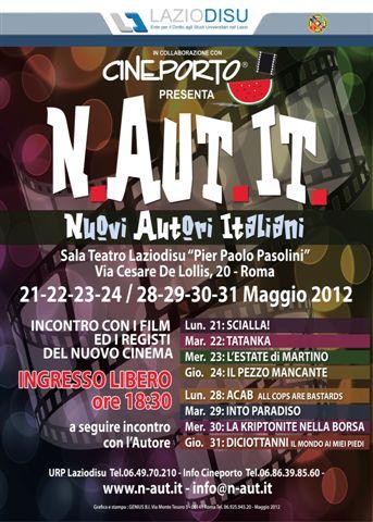N.AUT.IT 2012:I GIOVANI REGISTI SI RACCONTANO ALLA CASA DELLO STUDENTE