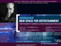WORKSHOP IN NEW ENTERTAINMENT DESIGN PER PROGETTISTI, DESIGNER E ARCHITETTI CON SIMONE MICHELI