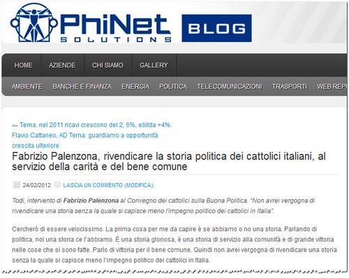 Fabrizio Palenzona rivendicare la storia politica dei cattolici italiani