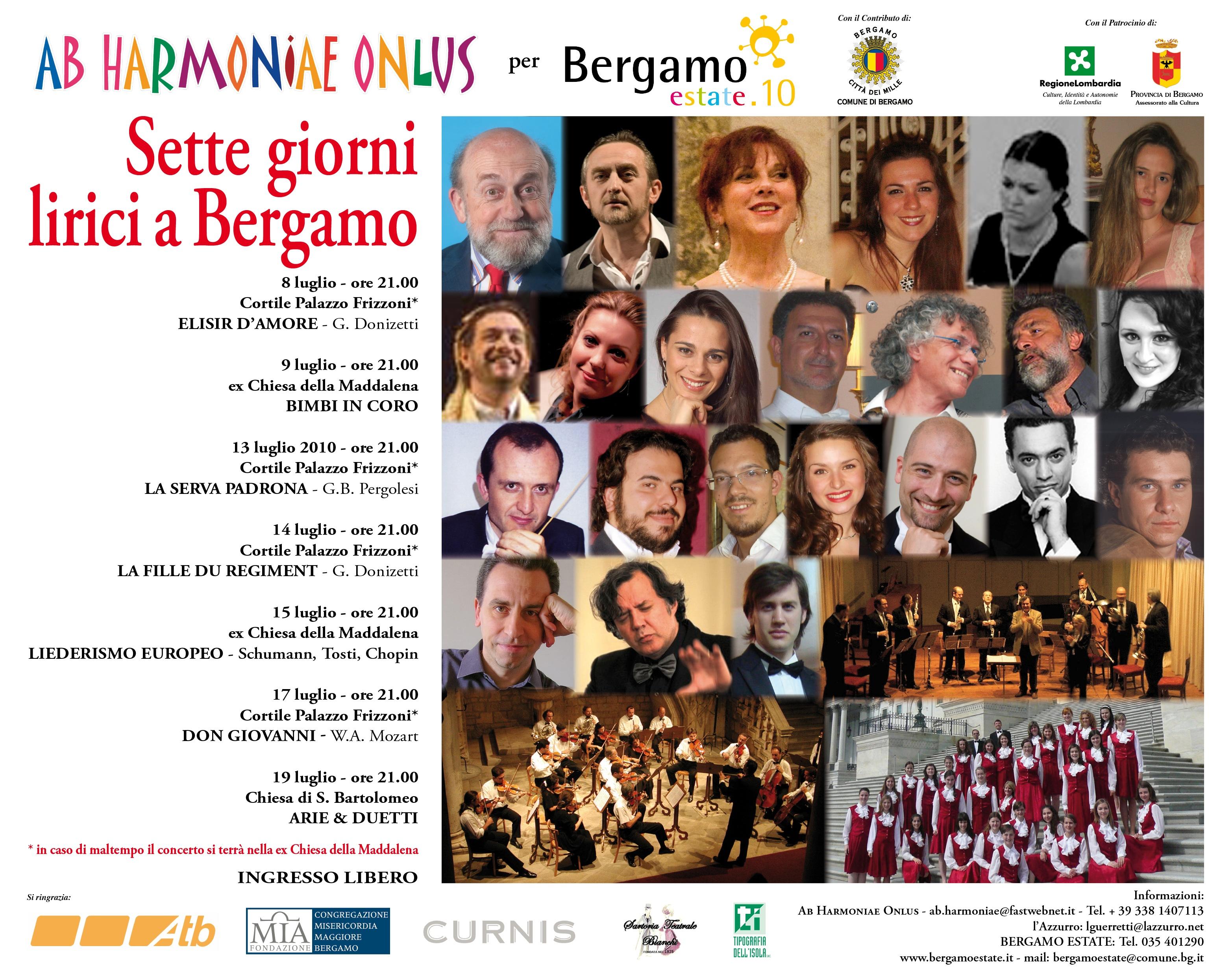 7 giorni lirici a Bergamo