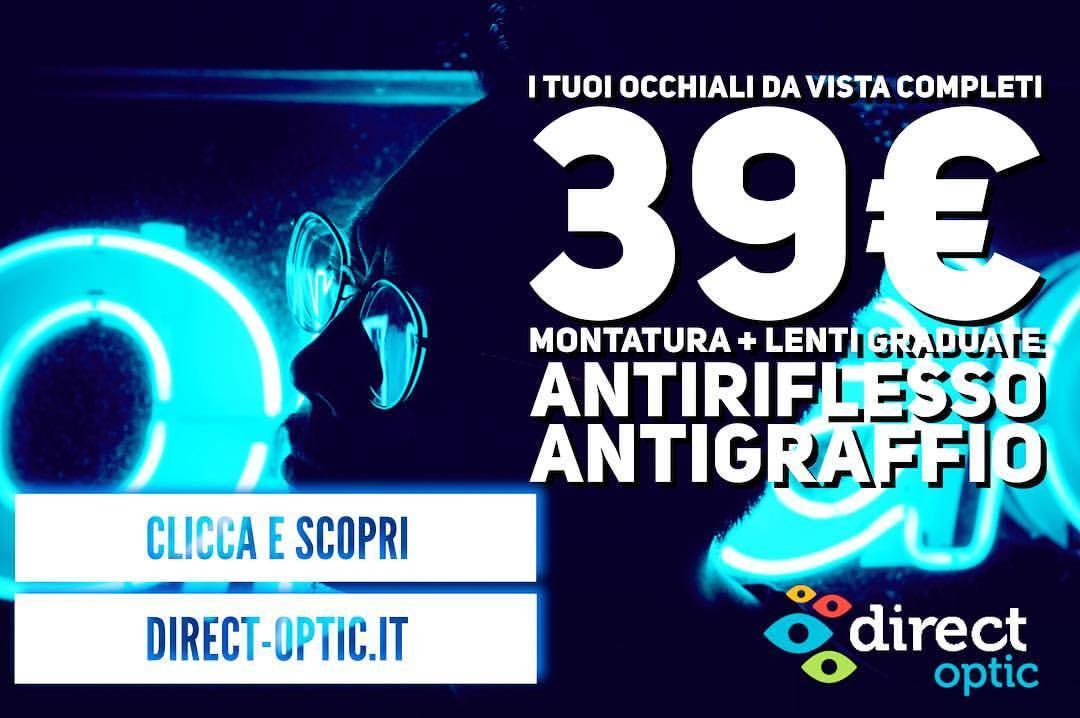 Anche in Italia Direct Optic, primo ottico online. Risparmio su lenti e montature del 50%