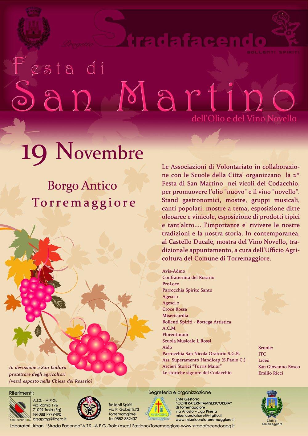 2.a Festa di San Martino. 19 Novenbre 2011, Borgo Antico Torremaggiore