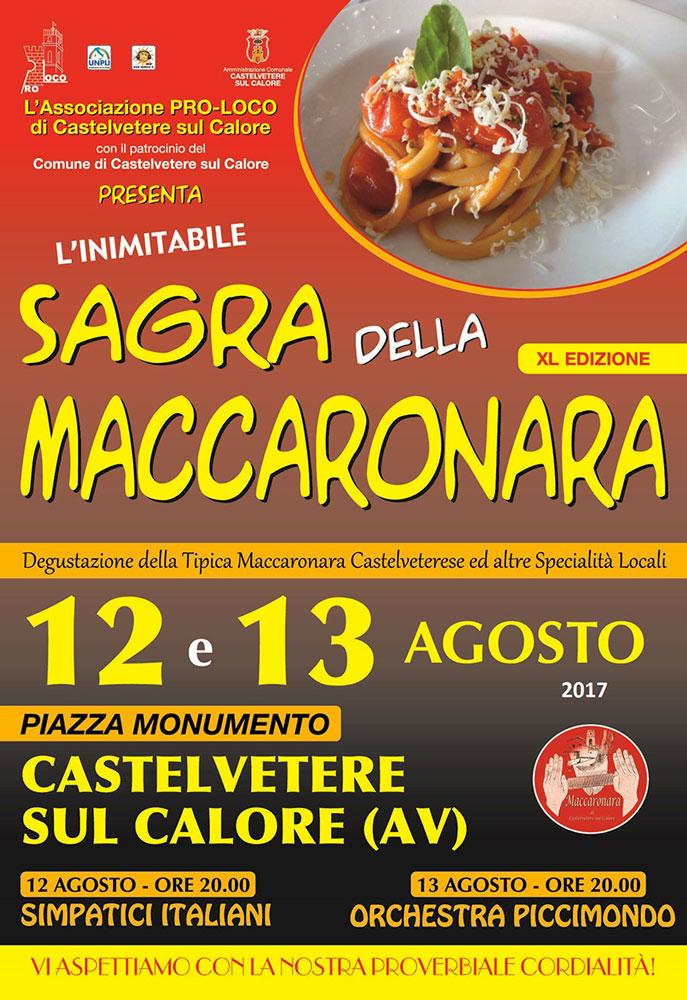 Termina l'attesa per la Sagra della Maccaronara di Castelvetere sul Calore