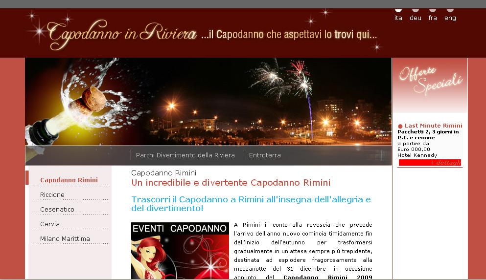 Nasce il portale dedicato al Capodanno nella Riviera Romagnola
