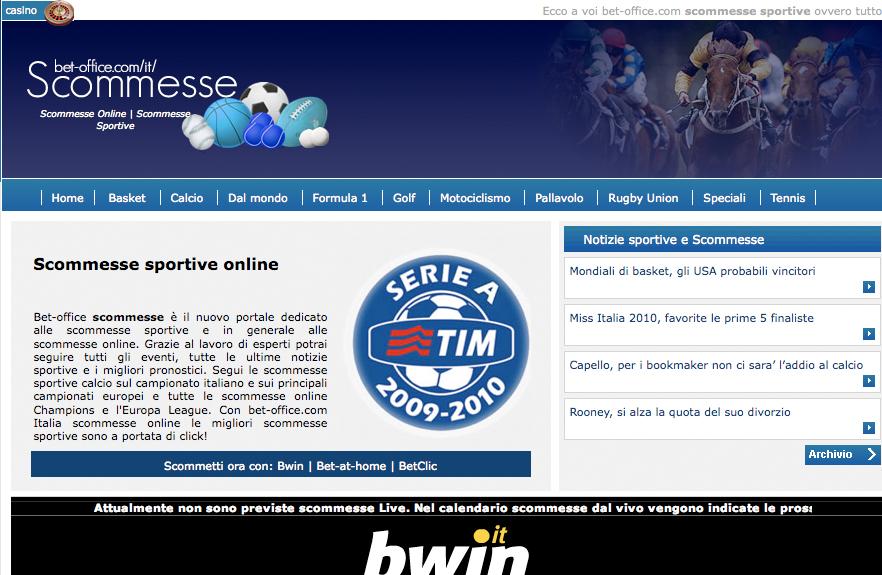 Bet-Office.com, la nuova risorsa per scommettere online