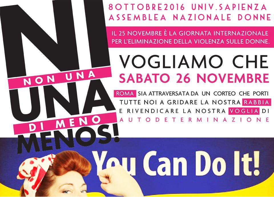 Sabato 8 ottobre 2016: assemblea nazionale delle donne a Roma