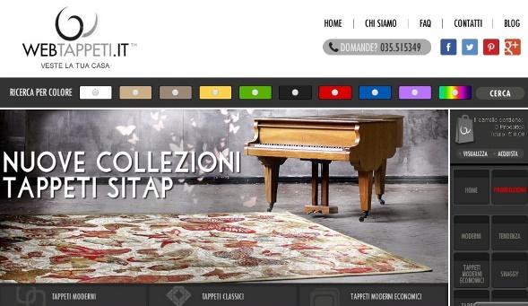 Webtappeti.it: nuove collezioni tappeti Sitap