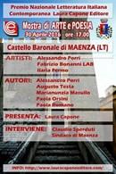 Premio Nazionale Letteratura Italiana Contemporanea, Arte e Poesia in mostra al Castello di Maenza (LT)