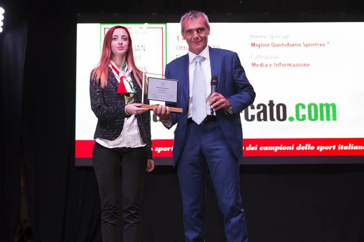 Calciomercato.com premiato come miglior quotidiano sportivo online agli Italian Sport Awards 2016