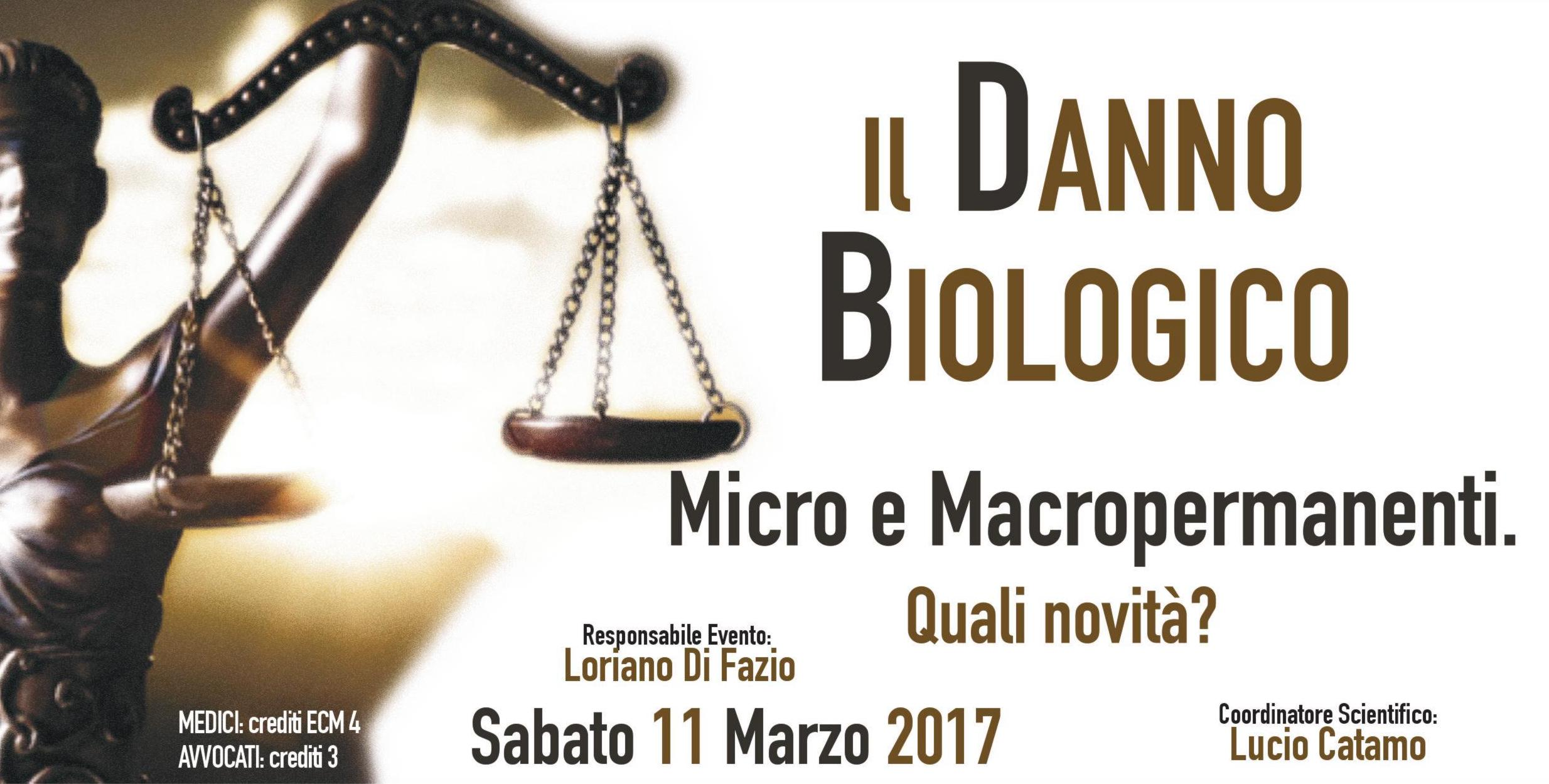 """""""Il Danno Biologico: Micro e Macropermanenti. Quali novità?"""" - Convegno 11 Marzo Bologna"""