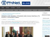 Istituzioni e web reputation: il Presidente della Camera Gianfranco Fini incontra Il Comunicatore Italiano