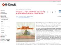 UniCredit presenta a Milano la sesta mostra degli UniCredit STUDIO, la rete di spazi espositivi dedicati ai giovani artisti