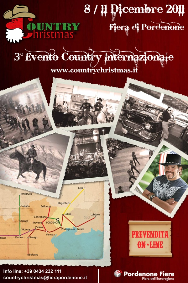 Torna Country Christmas, l'evento country internazionale di Pordenone Fiere. Pordenone capitale del Country-Style dall'8 all'11 Dicembre 2011