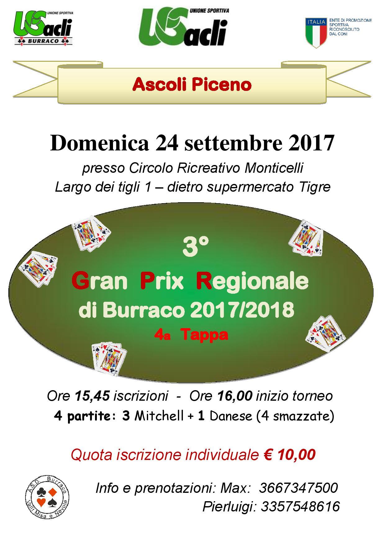 Ascoli Piceno ospita il Gran prix regionale di burraco dell'U.S. Acli