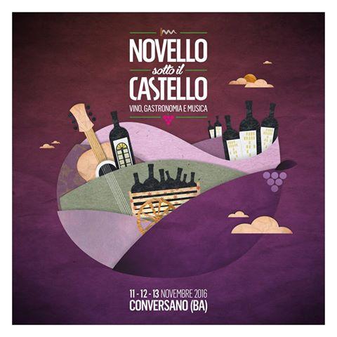 Novello sotto il Castello 2016, la festa del vino pugliese dall'11 al 13 novembre a Conversano