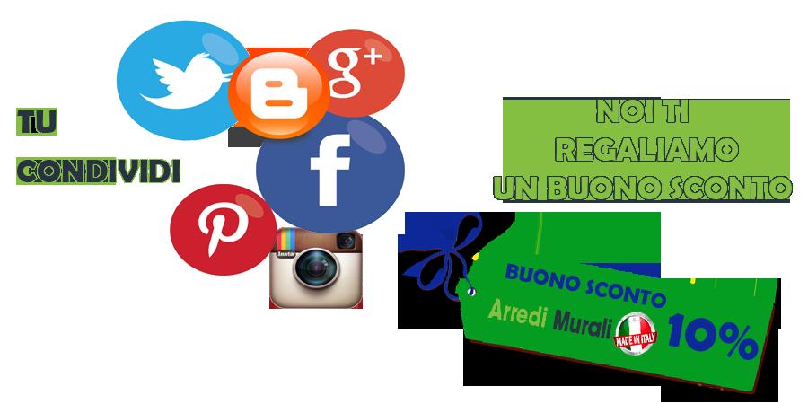 Arredi murali e promozione social for Arredi murali