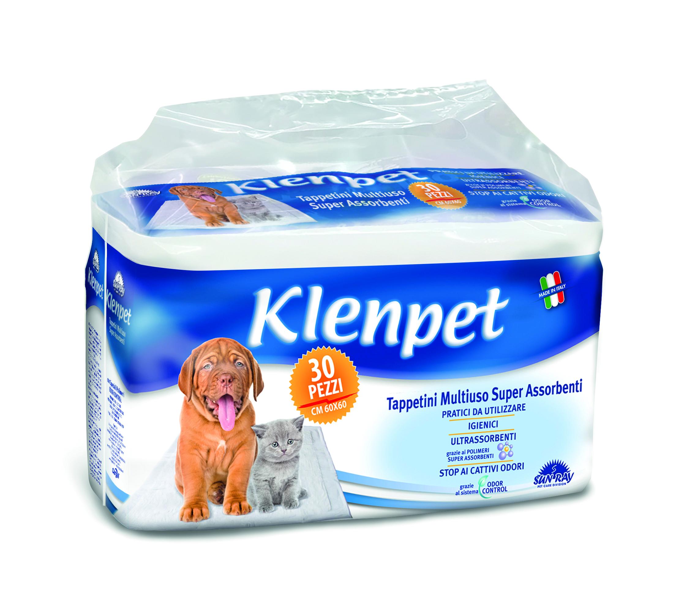 A casa o in viaggio, igiene totale con i Tappetini Klenpet SUN RAY