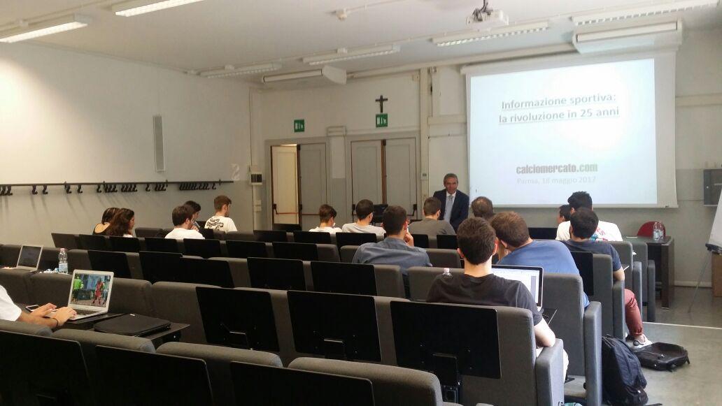 Calciomercato.com e la comunicazione sportiva digitale: lezione al masterSport dell' Università di Parma