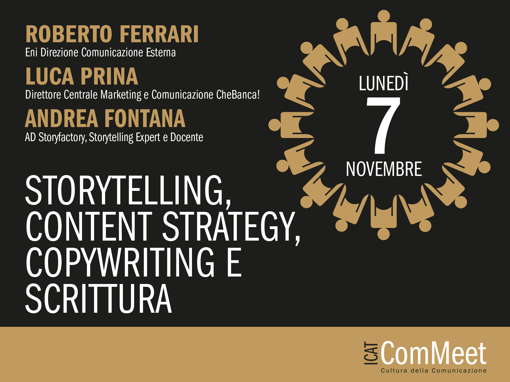 Lo Storytelling protagonista dell'evento Icat ComMeet di novembre
