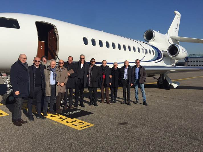 Jet Privato Ferrero : Sfa italia organizza per il gruppo idrotrade una visita