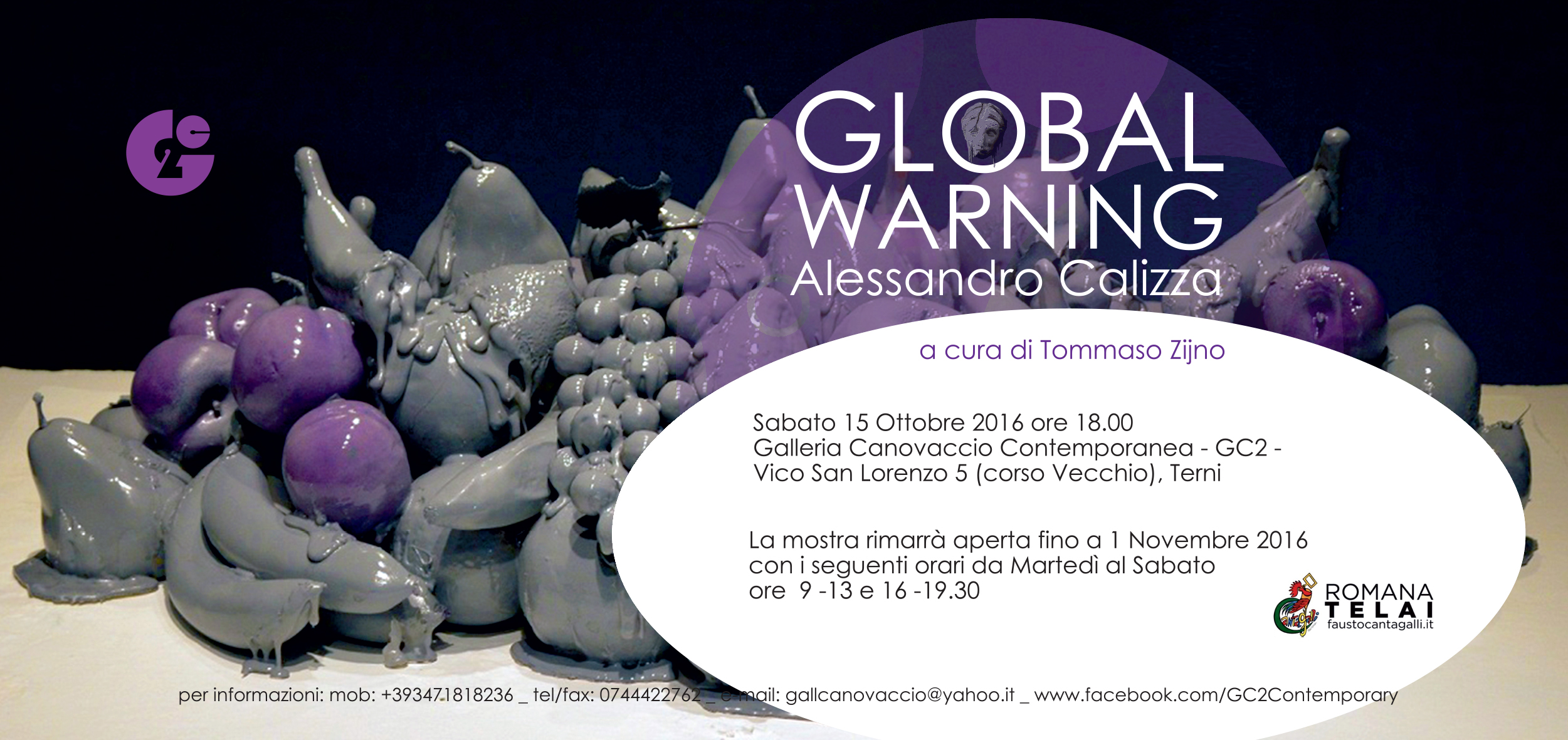 "Alessandro Calizza ""GLOBAL WARNING"""
