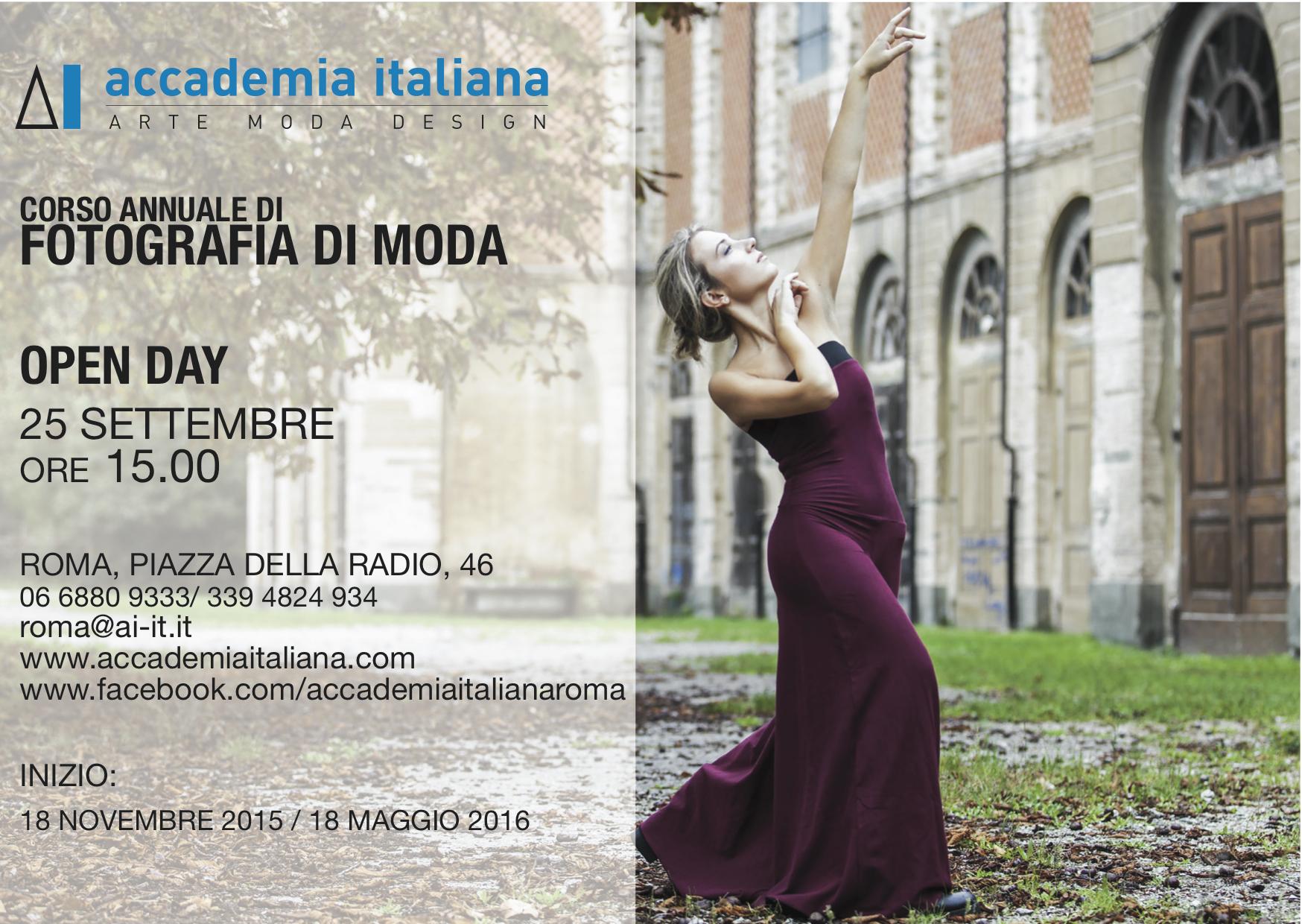 Open day corso annuale fotografia di moda 25 settembre for Accademie di moda milano