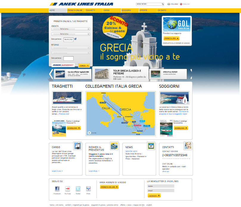 NASCE G.O.L., il PROGETTO di ANEK LINES che METTE la GRECIA ONLINE!