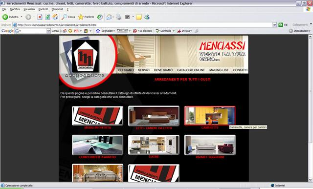 Menciassi arredamenti: catalogo online di cucine, divani, letti, camerette, complementi di arredo
